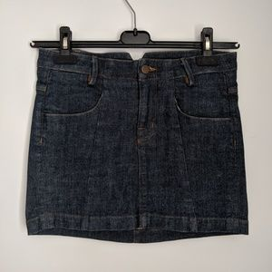 J Brand denim mini skirt